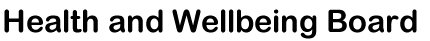 Health & Wellbeing Board logo
